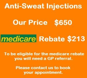 medicare approved anti-sweat injections chatswood dermatologist